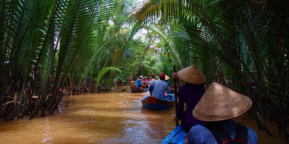 Sejltur i Mekongdeltaet.