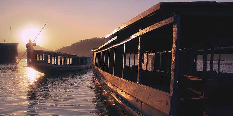 Sejltur på den smukke og spændende Mekongflod.